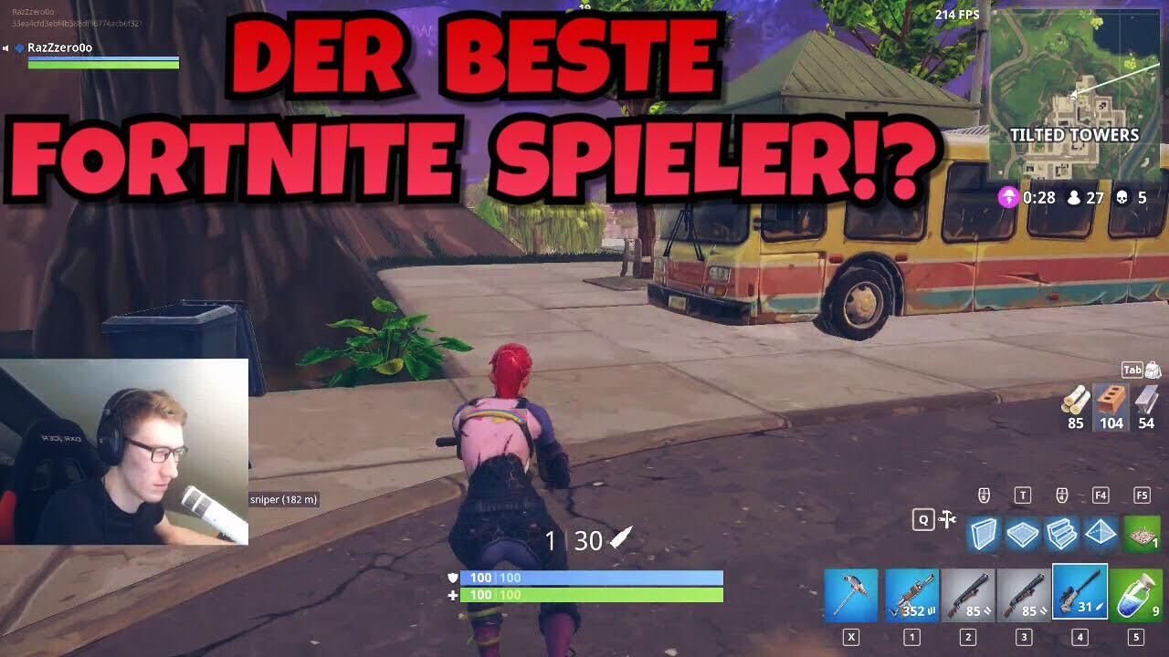 Fortnite Battle Royale: Bester Spieler Deutschlands