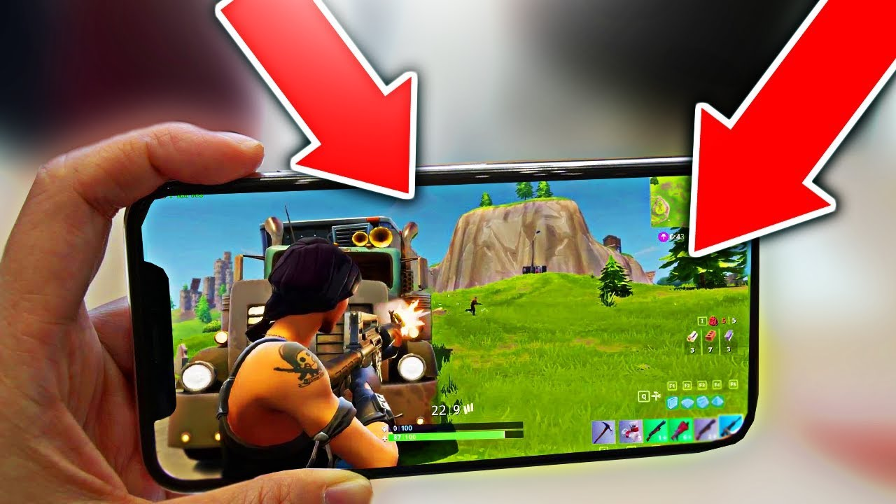 Fortnite Battle Royale auf iPhone X