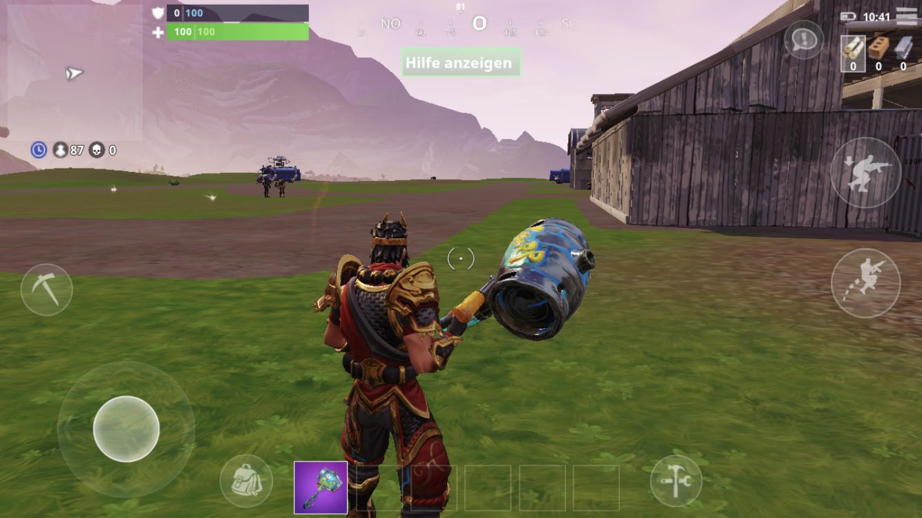 Fortnite Battle Royale Handy Lobby iOS